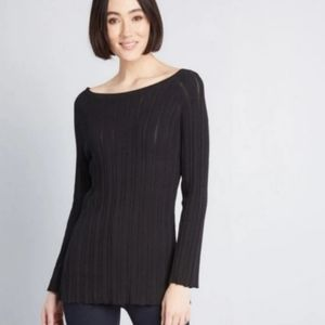 NWT Modcloth Black Knit Sweater